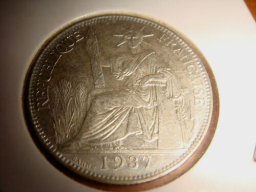 1937A French Indo-China, 20 Centimes, 680/1000 Silver, UNC Last Silver Issue