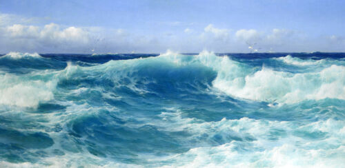 Wave Oil Painting Home decor Giclee Art Printed on canvas fol living room L2492