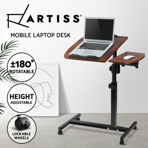 Mobile Laptop Desk Bed Stand Computer Table Adjustable Portable Study Office
