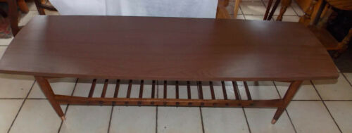 Mahogany Mid Century Formica Top Coffee Table  (CT211)