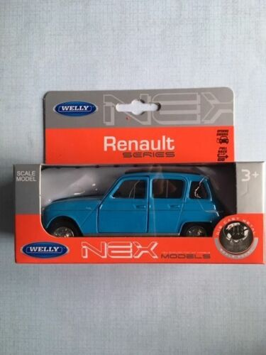 voiture welly renault 4L bleue