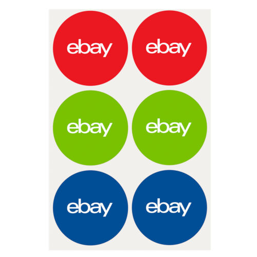 "3-Color, Round eBay-Branded Sticker Multi-Pack 3"" x 3"" <br/> 100 Stickers per Pack"