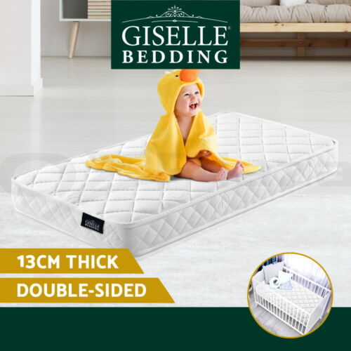 Giselle Bedding Baby Cot Mattress Bed Pocket Spring Foam Aloe Fabric 13cm <br/> ✔Top Quality✔Best Offer✔Free Delivery to Selected Areas