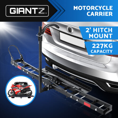 """Giantz Motorcycle Motorbike Carrier Rack 2""""Towbar Arm Rack Dirt Bike Ramp Steel <br/> Motorcycle Carries 500lbs with Taillight and Mount hole"""