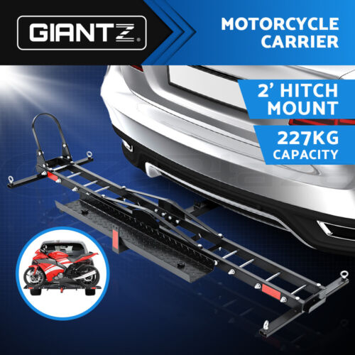 Giantz Motorcycle Carrier 2 Arms  Rack Ramp Motorbike Dirt Bike 2''Hitch Towbar <br/> Winter SALES!Buy and Save $$$ Now,Fast delivery!