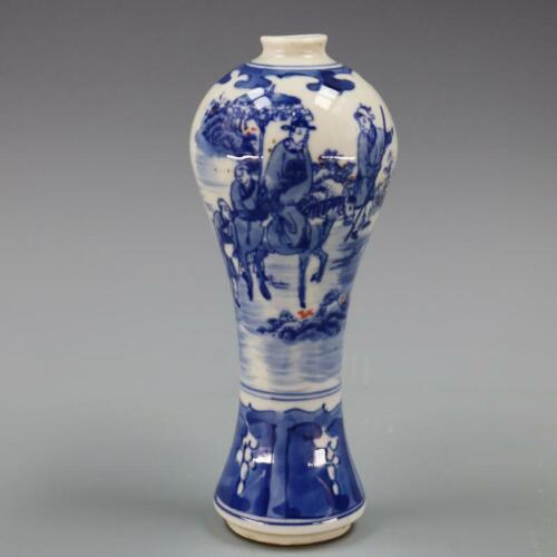 Chinese old porcelain vase Character Story pattern mei Bottle vase