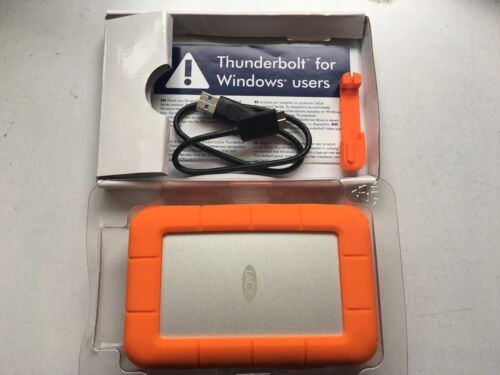 2TB LACIE RUGGED USB 3.0 THUNDERBOLT - GREAT CONDITION