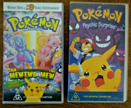 POKEMON VHS PAL Warner Home Videos x 2 Animated Tapes