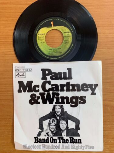 "Paul McCartney & Wings - Band On The Run / rare 7"" in Good Condition"