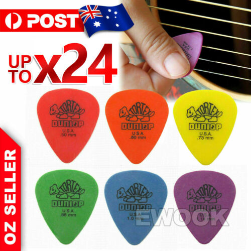 6X / 12X Jim Dunlop Tortex Standard Plectrums Mixed Pro Gauges Guitar Picks AU
