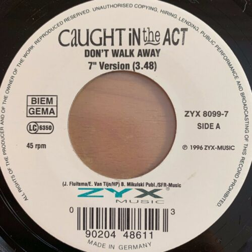 "Caught In The Act - Don't Walk Away / 7"" - Juke-Box-Ed. - Very Good Condition"