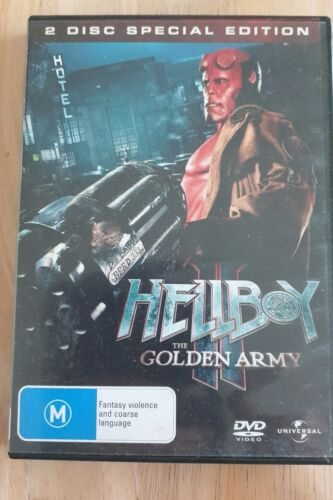 Hellboy II: The Golden Army (DVD, 2008, 2-Disc Set)VGC FREE POSTAGE