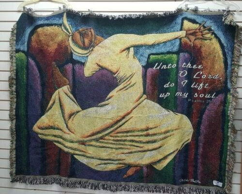 Lashun Beal Unto Thee O Lord Tapestry Throw/Afghan/African American