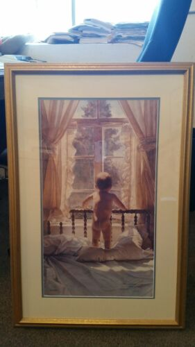 Steve Hanks - An Innocent View - Perfect W/Gold Frame 896/999 Excellent COA 1992