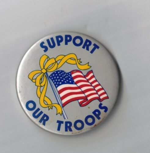 SUPPORT OUR TROOPS-AMERICAN FLAG-TWO 1/4 INCHES WIDTH-GREAT SHAPEOriginal Period Items - 13983