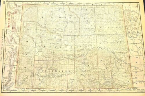 Antique map of The Bozeman Trail and The Wyoming Territory