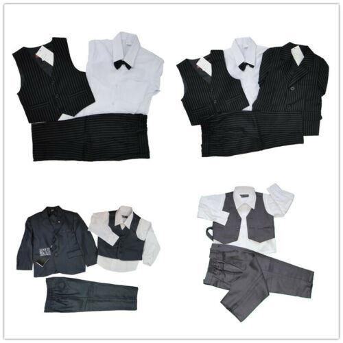 Brand New Boy's formal Wedding Party Dress up Tuxedo Suit Outfit Set