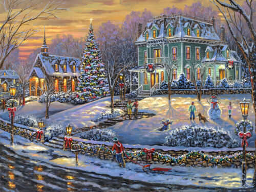 Merry christmas oil painting Giclee Art Printed on canvas L2775