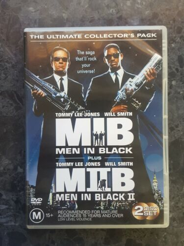 'MIB MEN IN BLACK 1 & 2' 1997/2002  2 Disc Collector's DVD free postage