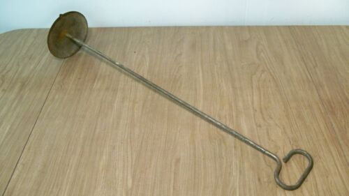 Vintage Antique Milk Or Cream Can Stirrer, Churn Rod W/ Solid Bottom Plate (A)