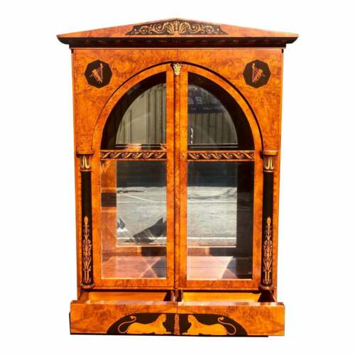 Huge Giemme Italian Neoclassical Style Break Front China Cabinet