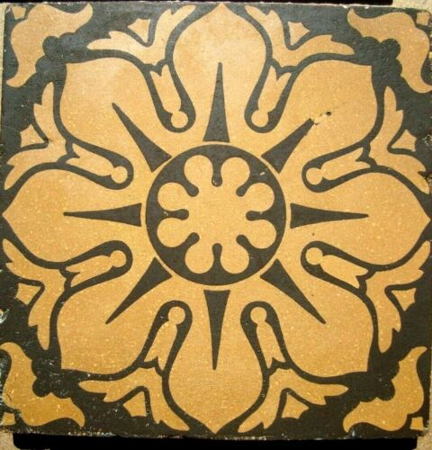 Original victorian stunning Encaustic reclaimed floor tile Maw & Co Ltd 6'x6'