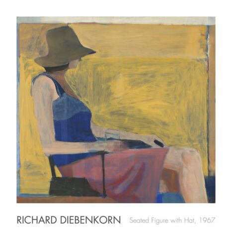 Seated Figure with Hat, 1967 by Richard Diebenkorn Art Print Poster 28x30