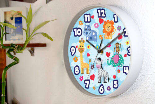 Walplus Happy Animals Children Wall Clock Kids Room Home Hotel Decoration