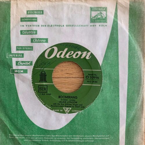 "Laurie London - Joshua // 7"" - 1.German-Pressing 1958"