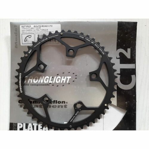 Plato Stronglight CT2 cerámica Campagnolo 48 dientes, 9/10V. 110mm negro (Oferta