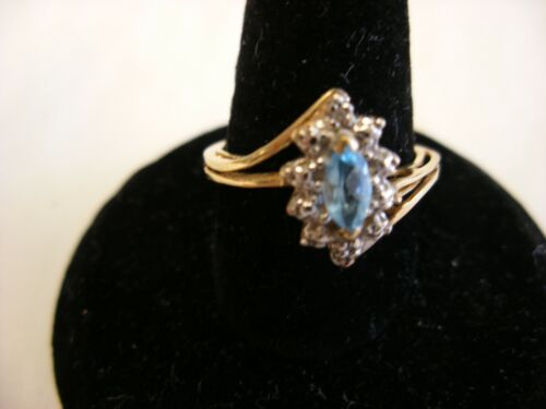 Vintage Victorian Style Jewelry 10K Gold Ring  Size 6 3/4 - 1.84g #133