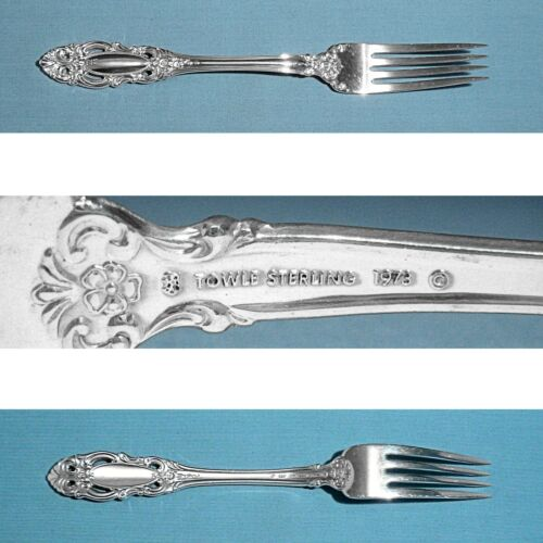 "TOWLE STERLING 7 5/8"" FORK(S) ~ GRAND DUCHESS ~ NO MONO"