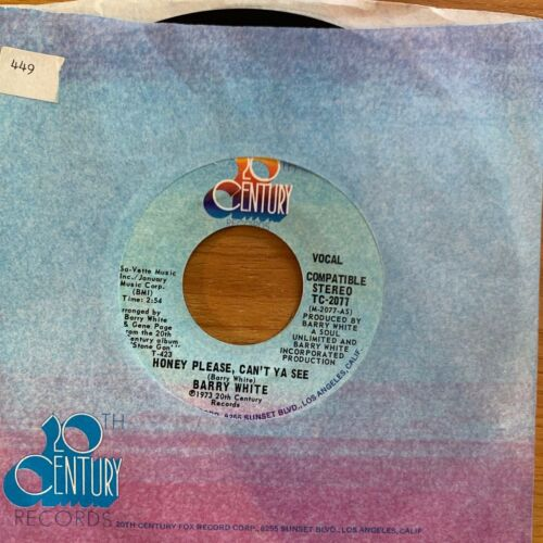 "Barry White - Honey Please, Can't Ya See // 7"" - 1. US-Pressing 1973 - TOP"