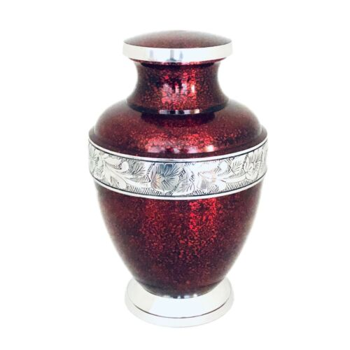 Well Lived™ Red Metallic Adult Cremation Urn for human ashes