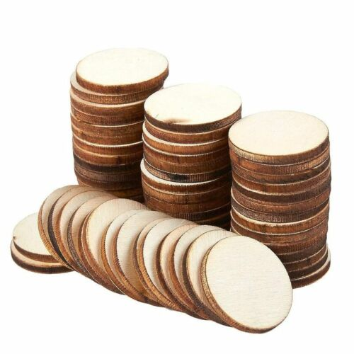 60 Pcs Unfinished Wood Slices, Round Natural Rustic Wooden Circles For Diy, 1