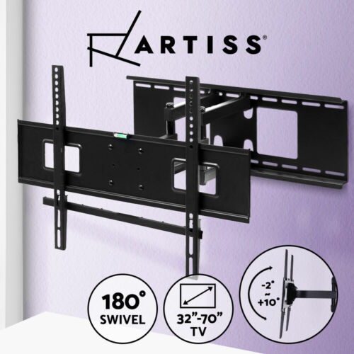 TV Wall Mount Bracket Full Motion Tilt Swivel Pivot 32 40 43 50 55 60 65 70 Inch <br/> Max 50kg✔Strong Frame✔Fast Delivery✔Up to 70 inch
