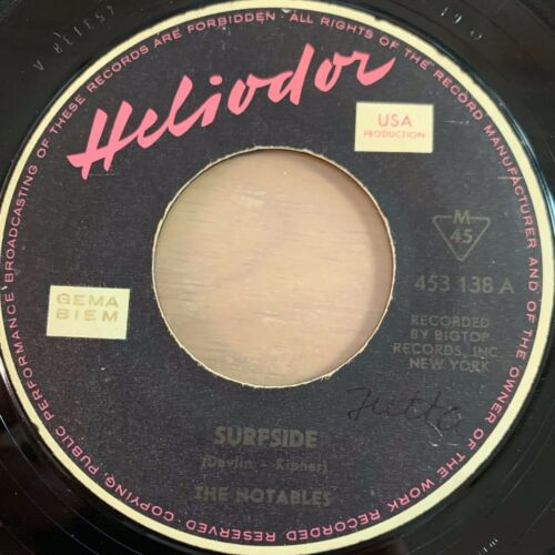 "Notables - Surfside // 7"" - 1.German-Pressing 1963"