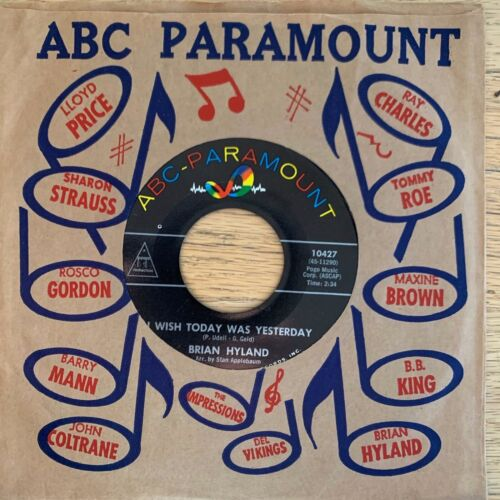 """Brian Hyland - Somewhere In The Night // 7"""" - 1.US-Pressing 1963 - TOP cond."""