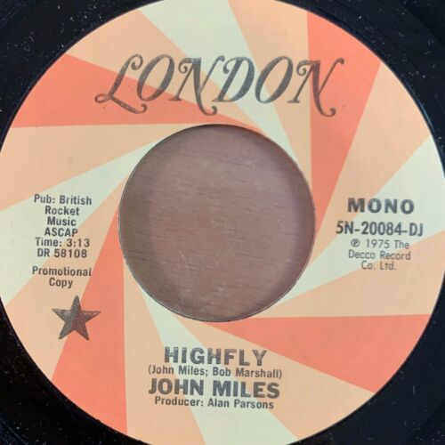 "John Miles - Highly // 7"" - 1. US-Pressing 1975 - Promo Copy - TOP cond."