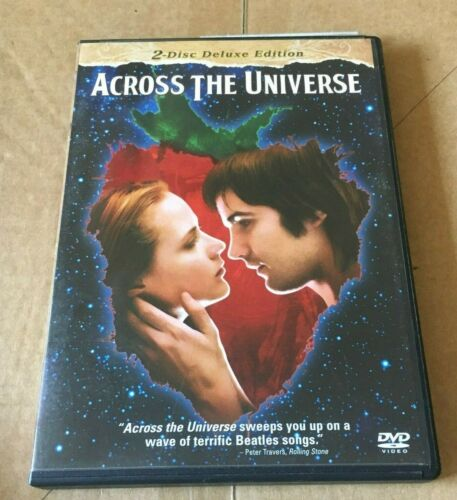 ACROSS THE UNIVERSE DVD. 2 DVDS, REGION 1 ONLY Dvd