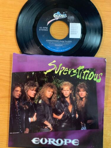 "Europe - Superstitious // 7"" - 1. US-Pressing 1988 - TOP condition"