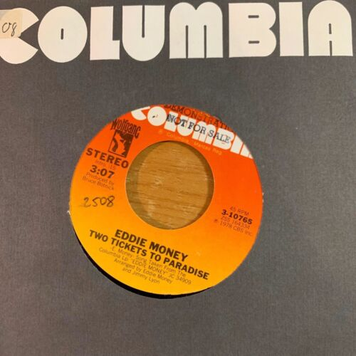 """Eddie Money - Two Tickets To Paradise // 7"""" - 1. US-Pressing 1978 - TOP"""