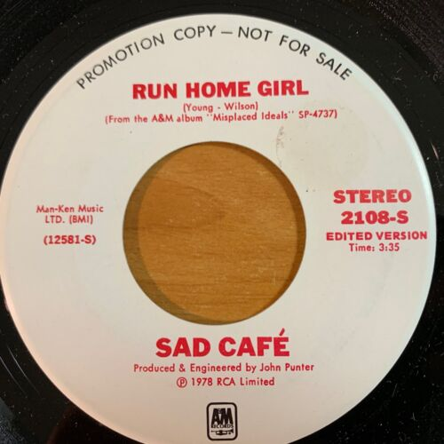 "Sad Café - Black Rose // 7"" - 1. US-Pressing 1977 - Promo Copy - TOP"