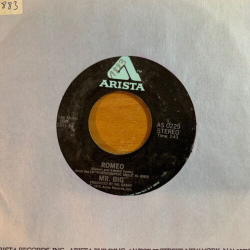 "Mr. Big - Romeo // 7"" - 1.US-Pressing 1976 - TOP condition"