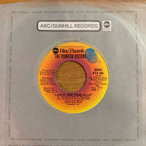 """Pointer Sisters - Fairytale // 7"""" - 1. US-Pressing 1974 - Mono - TOP condition"""