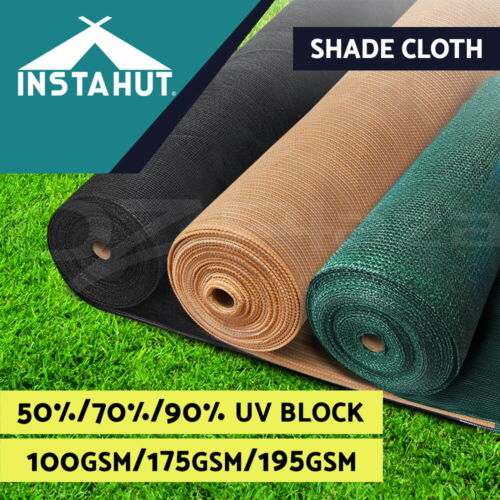 Instahut Shade Cloth Shadecloth Sail 50% 70% 90%UV Mesh Roll Garden Outdoor <br/> ✔Top quality✔Discounted price✔No code needed✔