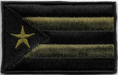 Puerto Rico Woodland Green Black Flag Patch VELCRO® BRAND Fastener CompatibleArmy - 48824