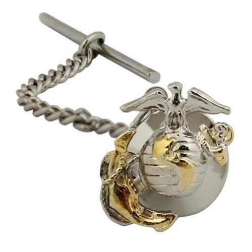 Marine Corps Tie Tac Tie Tack Officer  2 tone  (Made in USA)Marine Corps - 66531