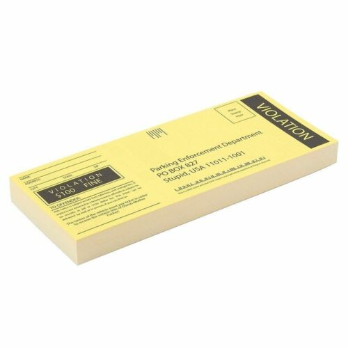 100-sheet Fake Parking Tickets With Hilarious Offenses Gag Gift For Prank Party