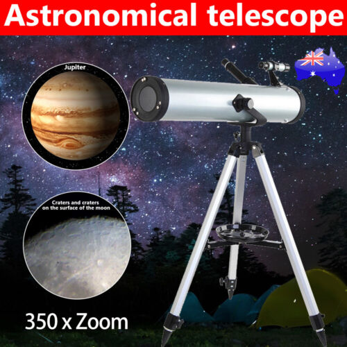 AU Astronomical HD Telescope 114mm Aperture 350x Zoom Night Vision with Tripod